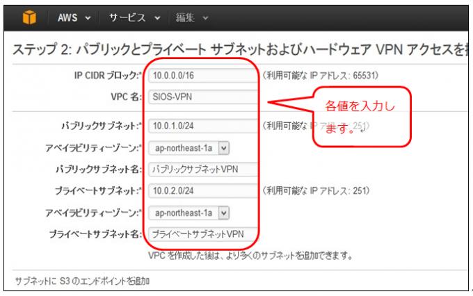VPCのネットワーク設定を行う